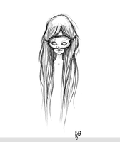 Masked Girl Sketch by beyourpet