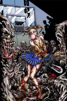 Zombies vs cheerleaders colors by alexasrosa