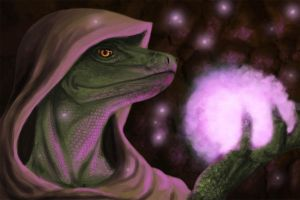 Argonian Mage by JoyAffliction