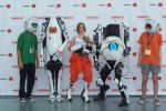 Portal 2 cosplay with cores by SavedChicken