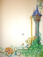 Rapunzel's tower :)) by WormholePaintings