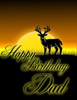 deer b-day card by Sevenslashes