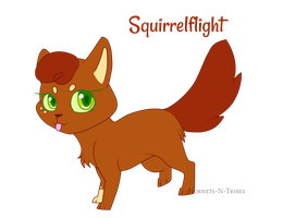 Squirrelflight Chibi ||Warriors|| by Hornets-N-Tribes