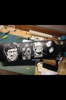 Spray Painting Longboard by snakeeyeeffects
