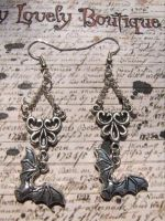 bats and ornaments by TheLovelyBoutique