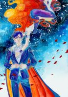 Tuxedo Mask and Perilia Fanart by EyeXcatcher by Eye12524