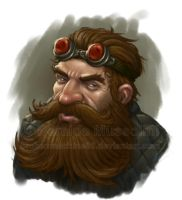 Dwarf artificer by BrokenMachine86