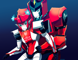 tfp inferno and red by mizz-ninja