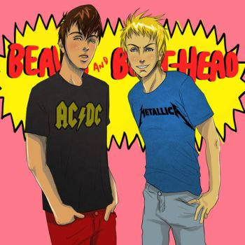 beavis and butthead fanart by MahaAsh