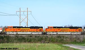 Brand New BNSF SD70ACe locomotives 9112 and 9114 by EternalFlame1891