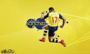wallpaper alexis sanchez 2014-2015 by Designer-Abdalrahman