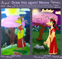 Draw this again contest - a year later... by LunarStarwhisper