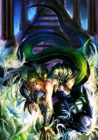 Cassiopeia! The serpent's embrace! by NIELSPETERDEJONG