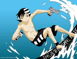 Surf's Up : Death the Kid by Myiaow