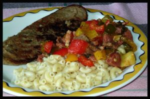 Schnitzel with Capsicums by Snowflaky