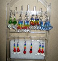 Bead earring rainbows by ika-siyam