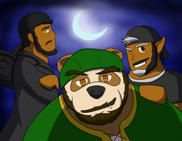 The Moonlit Wolfs by Saruteku