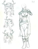Character Sketch - Druid by Morgaine-le-Fay