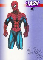 Spiderman made with markers by LaRhsReBirTh