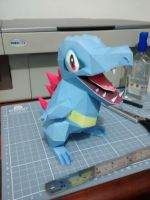 Pokemon Papercraft - Totodile by DenisSensei
