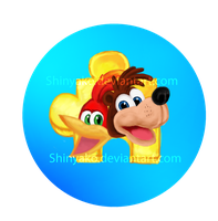 Banjo and kazooie button by Shinyako