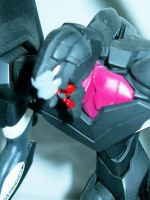 close of of unit 03's head by TribalBunny13