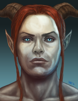 Valen Shadowbreath Portrait by Kittanee