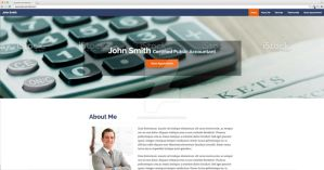 Single Page Site for Business Professionals by RidDesigner