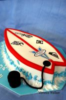 Surfboard Cake by Verusca