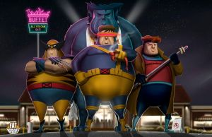 FAT HEROES (X-Men) by CarlosDattoliArt