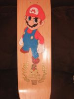 SuperMario skateboard by brolicdesigns