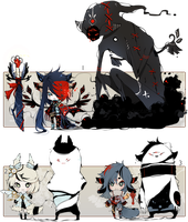 [CLOSED] ADOPT AUCTION 120 - Shadowmonsters by Piffi-adoptables