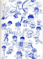 DP pen sketches by WickedGhoul