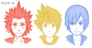 KH 358/2 Days head sketches by Enigma-XIII