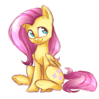 FlutterShy Sketch by VOILET14