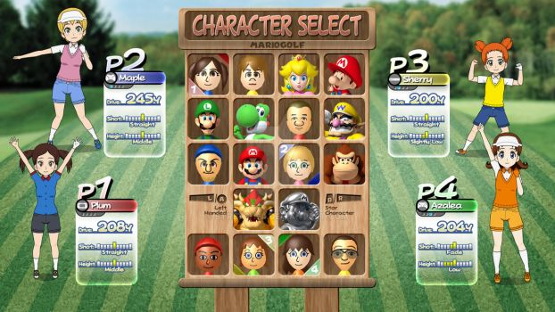 Mario Golf 64 HD Character Select screen by Stretch90