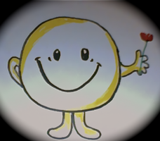 Mr Happy holding a rose. by janzram