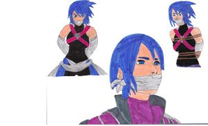 Aqua bound and gagged by Peinhokage