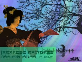 japanese painting cs5 brushes by rowlee