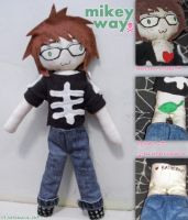 MCR: Mikey Way Plushie by katiesaurus