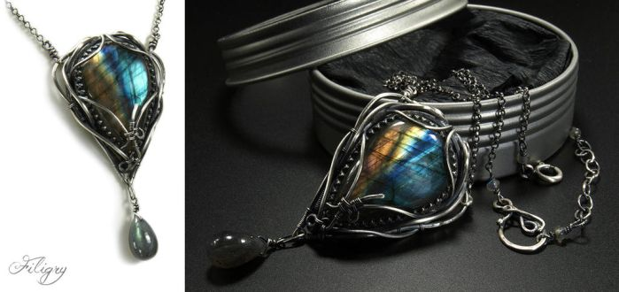Northern Lights - Labradorite Pendant by FILIGRY