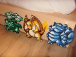 #003 Venusaur / #006 Charizard / #009 Blastoise by reika-world