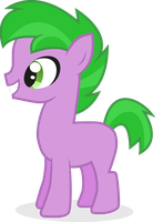 Spike the Pony by BlackWidower