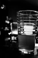 Tea Glass Black and White by creynolds25