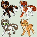 Warrior Apprentice Adoptables *CLOSED* by acornheart465