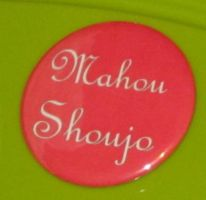 'Mahou shoujo' button by BlackUnicornWood