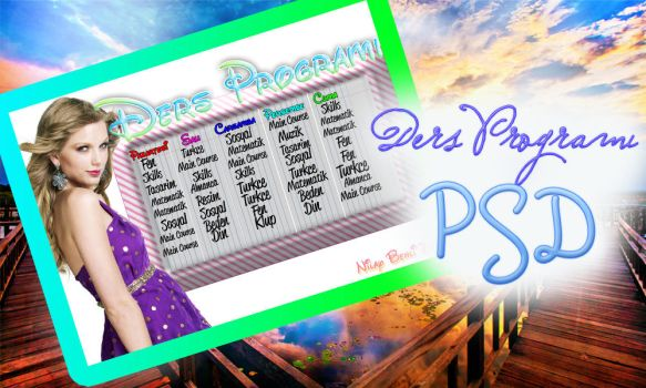 Lesson Timetable PSD by ChocolatePhotoshop