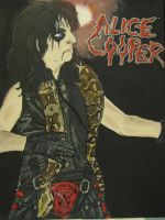 Alice Cooper Painting by AlicesArtMaiden