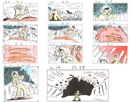 Heroic Story color storyboard examples 2 by Animator-who-Draws