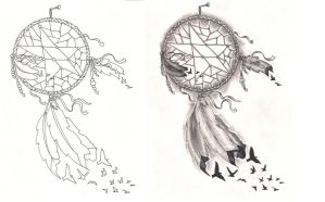 Freebies Tattoo Desings Dream Catcher Birds by TattooSavage